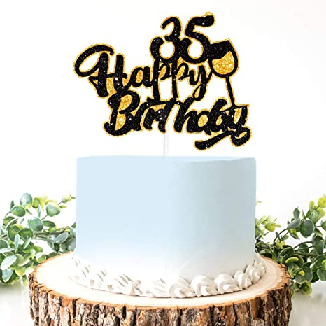 Excellent Amazon Com Aerzetix Birthday Decoration Happy 35Th Birthday Cake Personalised Birthday Cards Sponlily Jamesorg