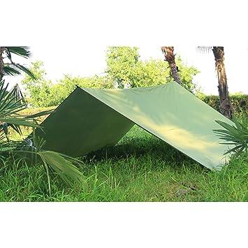 crayfomo Ultralight Tent Lona Impermeable Anti-UV Gran Verde Hamaca Lona portátil Sol Lluvia Refugio