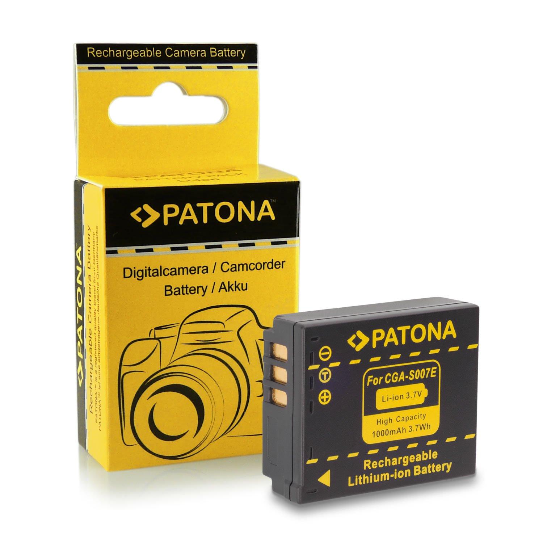 Premium Batteria DMW-BLC12E | DMW-BLC12PP per Panasonic Lumix DMC-FZ200 | DMC-FZ300 | DMC-FZ1000 | DMC-G5 | DMC-G6 | DMC-G70 | DMC-GH2 | DMC-GX8 PATONA