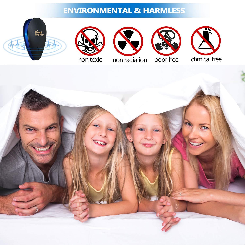 Ultraschall Schädlingsbekämpfer Mückenabwehr Mäusevertreiber Pest Repeller Control - Elektronisches Insektenschutzmittel - Haustierfreundlich Vertreiber gegen Nagetieren, Insekten, Ratten, Spinnen, Ameisen, Mücken und Mäus-4PCS