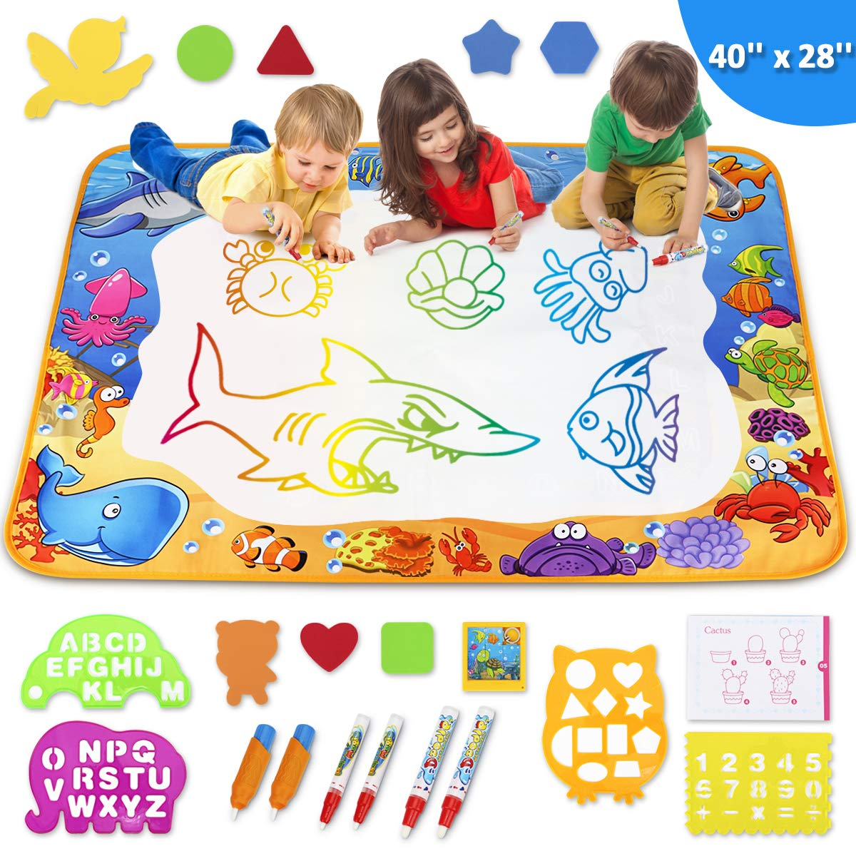 Toyk Aqua Magic Mat - Kids Painting Writing Doodle Board Toy