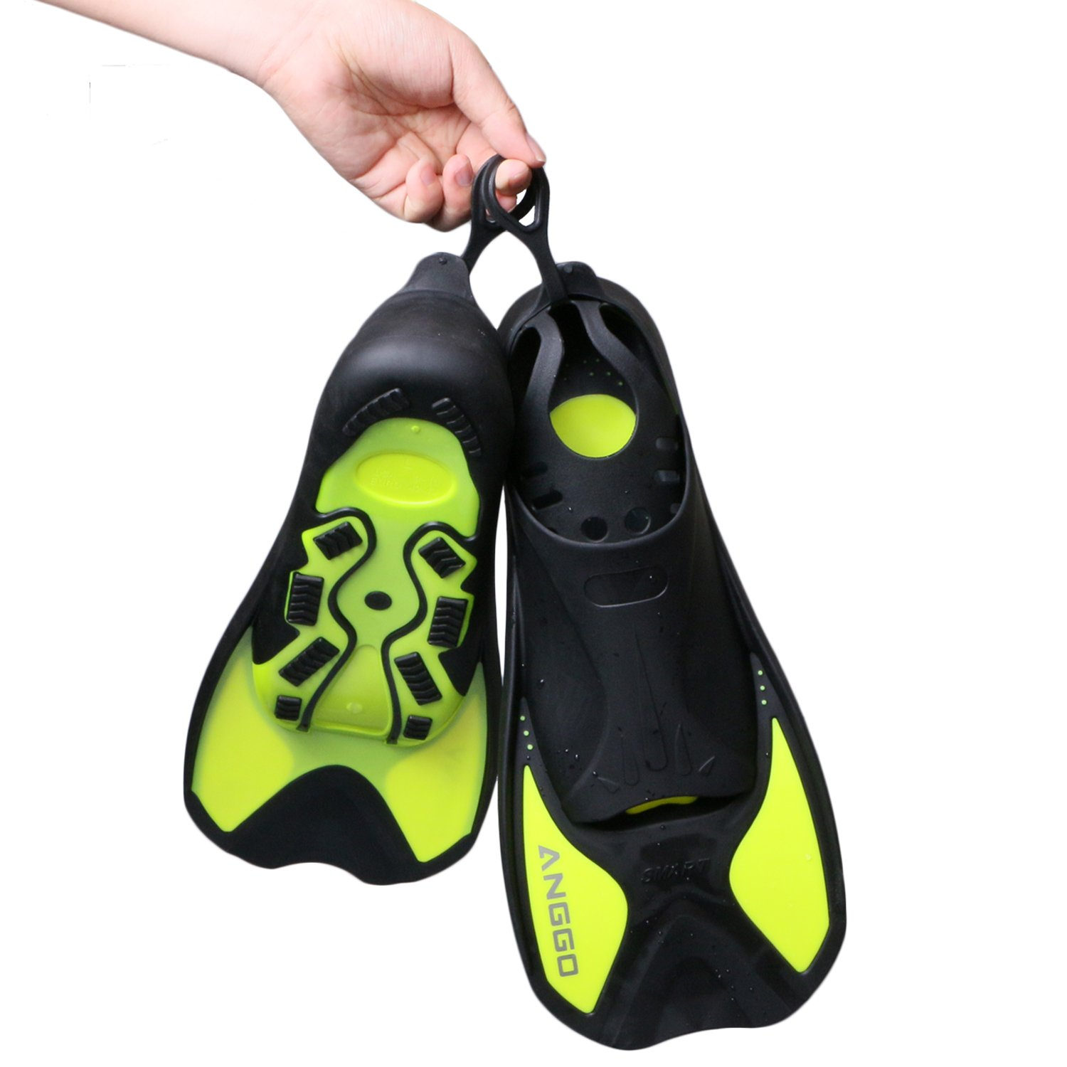 ANGGO Short Dive Fins for Swimming and Snorkeling