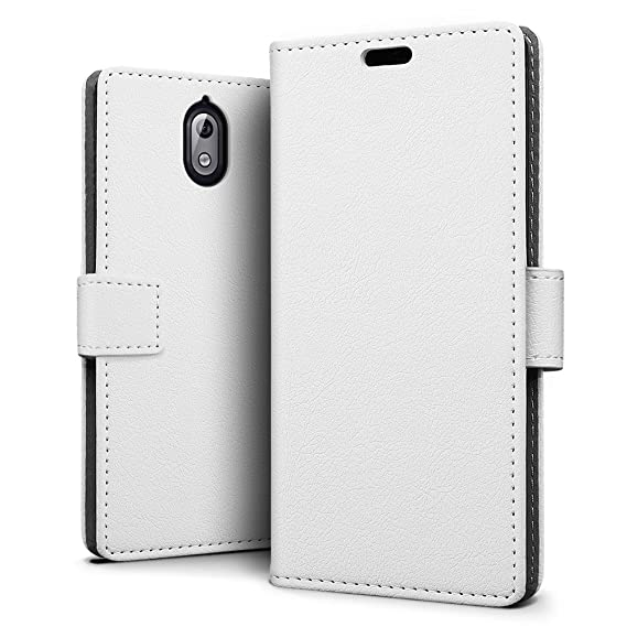 brand new 3f687 fc473 SLEO Nokia 3.1 Case, Nokia 3 2018 Case Luxury Slim PU Leather Flip  Protective Magnetic Wallet Cover Case for Nokia 3.1/Nokia 3 2018 with Card  Slot and ...