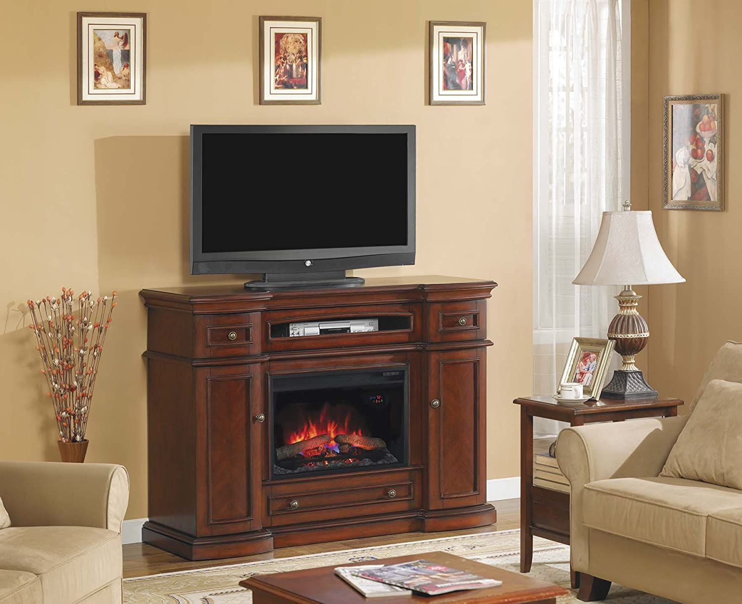 Amazon.com: ClassicFlame 26MM2490-C233 Montgomery TV Stand for TVs ...