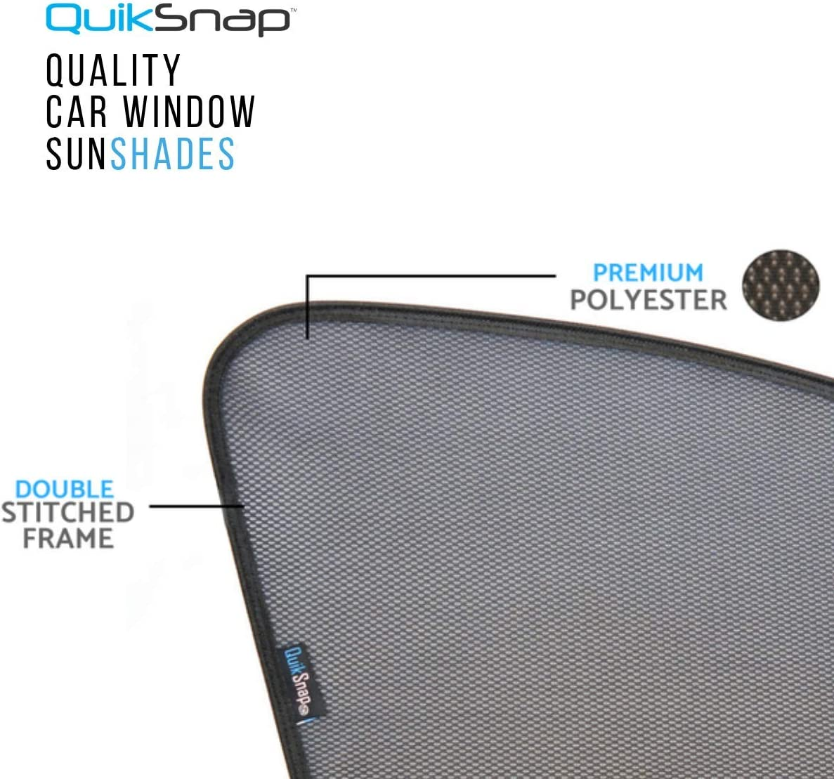 Custom Side Window sunshades QuikSnap sunshades Infiniti QX60 2014-2019 Set of 4