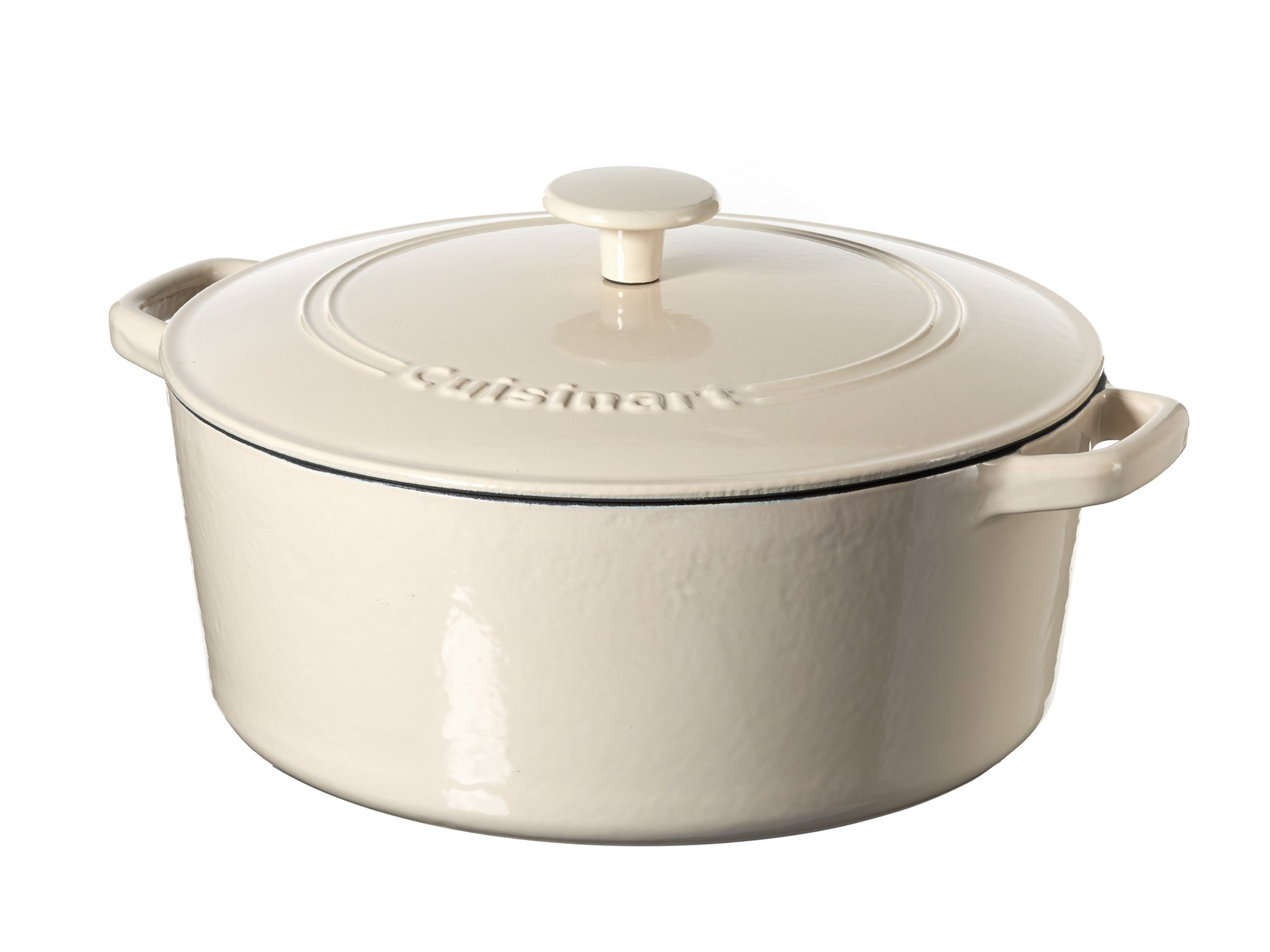 Cuisinart Casserole Cast Iron, Cream, 7 quart