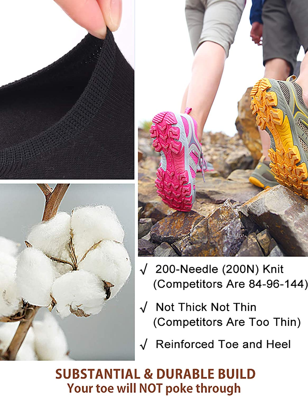 VERO MONTE 4 Pairs SPORTS No Show Socks Women Cotton No Show Socks Sports Liners at  Women's Clothing store