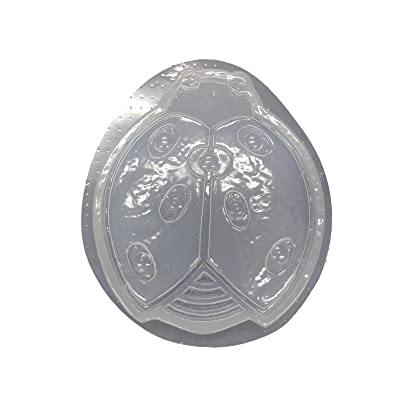 Ladybug Shaped Stepping Stone Concrete or Plaster Mold 1287: Home & Kitchen