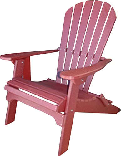 Phat Tommy Recycled Poly Resin Folding Adirondack Chair Durable and Eco-Friendly Armchair. This Patio Furniture is Great for Your Lawn, Garden, Swimming Pool, Deck.