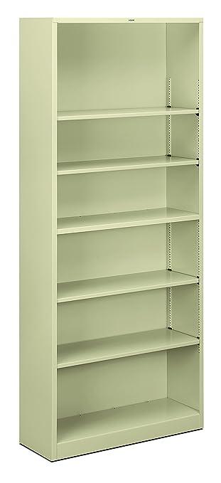 hon brigade metal bookcase shelves premier 6 shelf corner black orson white bi fold door