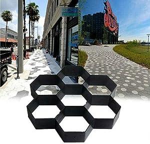 MASTER TRADE Cement Mold 11.5 x 11.5inch Reusable Garden Pavement Paving Mould, Hexagon Concrete Path Walk Maker for Garden Yard Stepping Stone