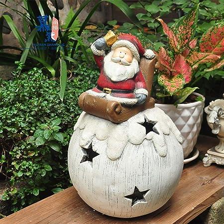 Decoración De Exteriores Creativa decoración de jardín de Madera-como muñeco de Nieve Ornamentos de Vela Titular Bastante Accesorios Jardín (Color : Red, Size : L): Amazon.es: Hogar