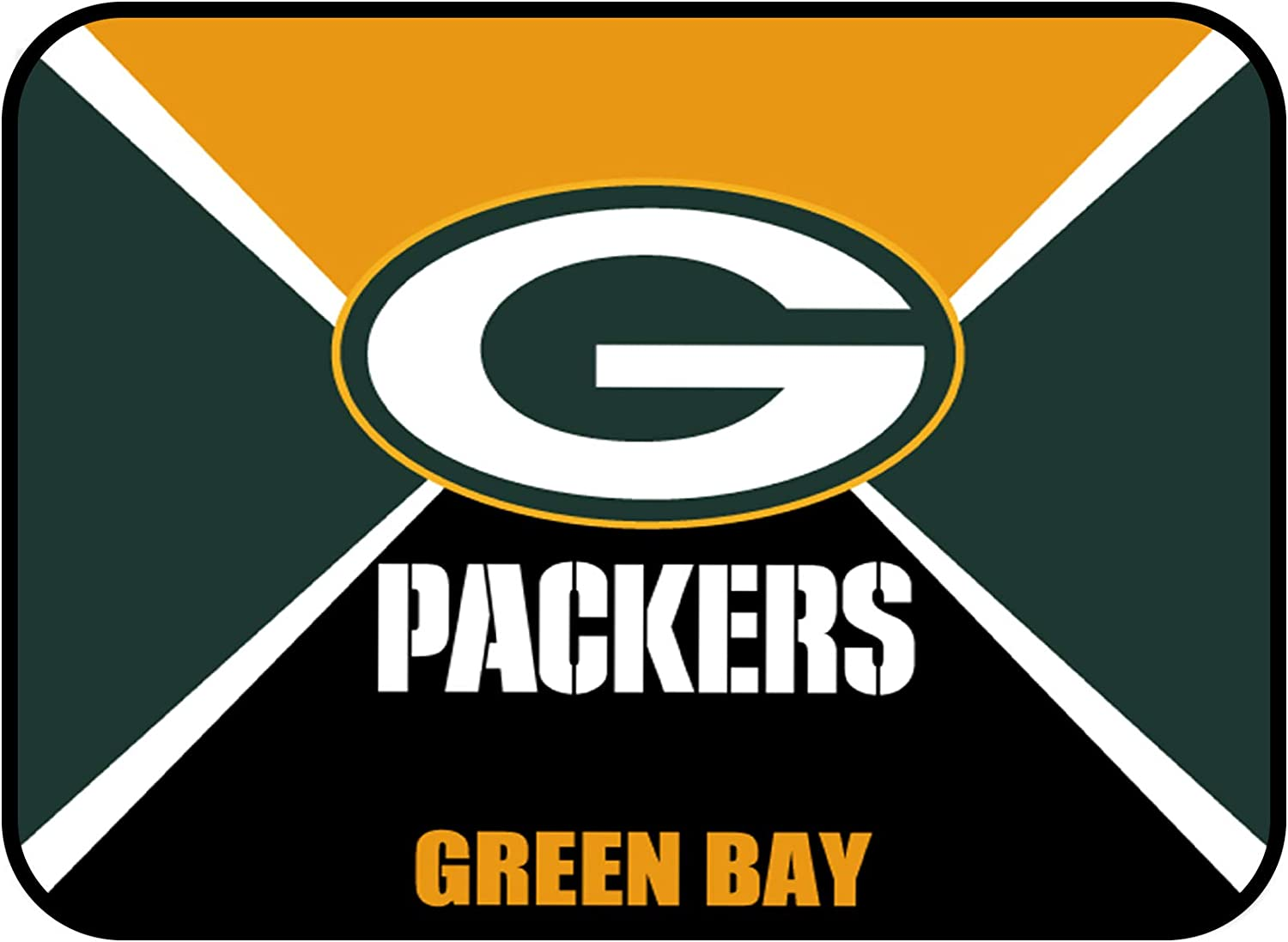 """Sensitive Gaming Mouse Pad Muti Color 10""""×8""""&31.5""""11.8"""" Non-Slip Rubber Base Rectangle Mouse Mat for Computer Desk Laptop Office (Green Bay Packers, 10""""×8"""")"""
