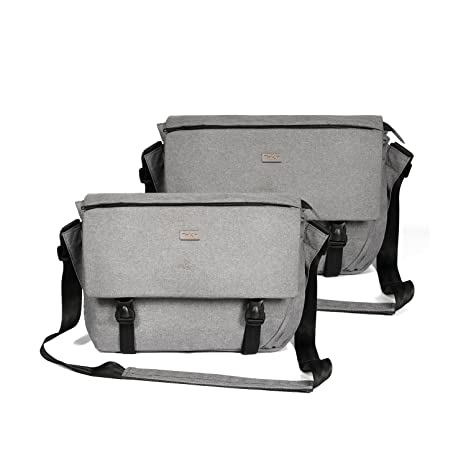 17e3c75df5 ThiKin Classic Lightweight Casual 14-Inch Laptop Messenger Bag for Men (2  Pack Grey