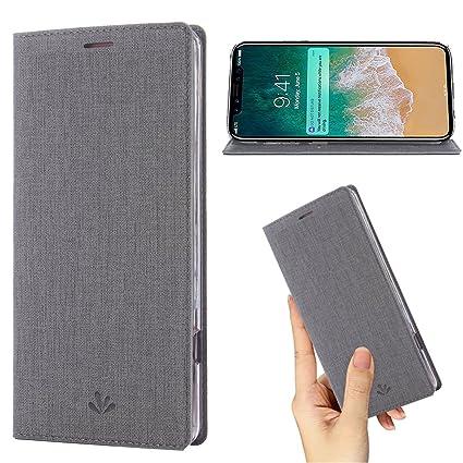 Amazon.com: Funda para iPhone Xs Max, de piel sintética ...