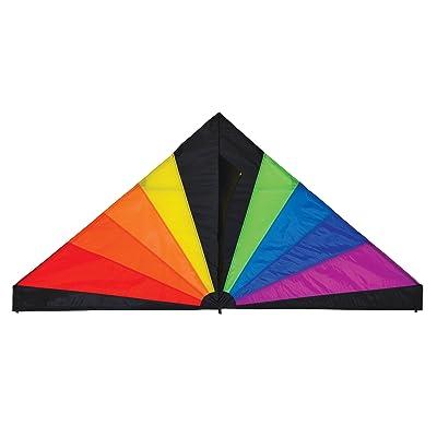 In the Breeze 3093 Rainbow Black Delta Kite, 6-Feet : Garden & Outdoor
