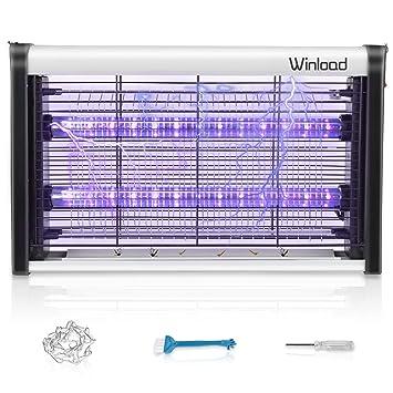 Winload Lampe Anti Moustique Électrique, 4W LED Tue Mouches Destructeur D' Insectes, UV Lampe Anti Moustiques, Tueur Lampe Répulsif, Piège à Moustique