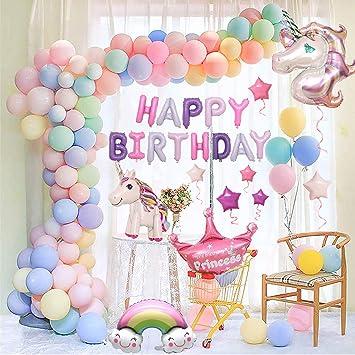 Funcube Décorations De Fête De Licorne Pour Enfantsénormes Ballons De 3d Licorneballons En Héliumjoyeux Anniversaire Décoration Fournitures De Fête