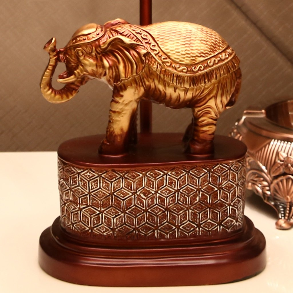 Great St. Creative Elephant Desk Lamp Retro Sculpture Resin Reading Light E27 Lamp Holder Living Room/Bedroom/Study Lighting Decorative Lights FGD (Color : Dimmer switch) by Great St. (Image #5)