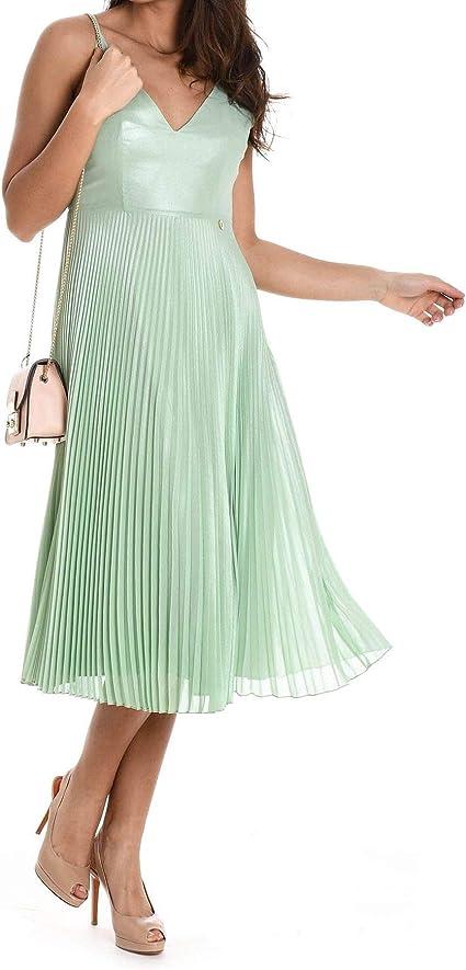 Mangano Robe Femme Vert Vert Taille Marque 46 Amazon Fr Vetements Et Accessoires