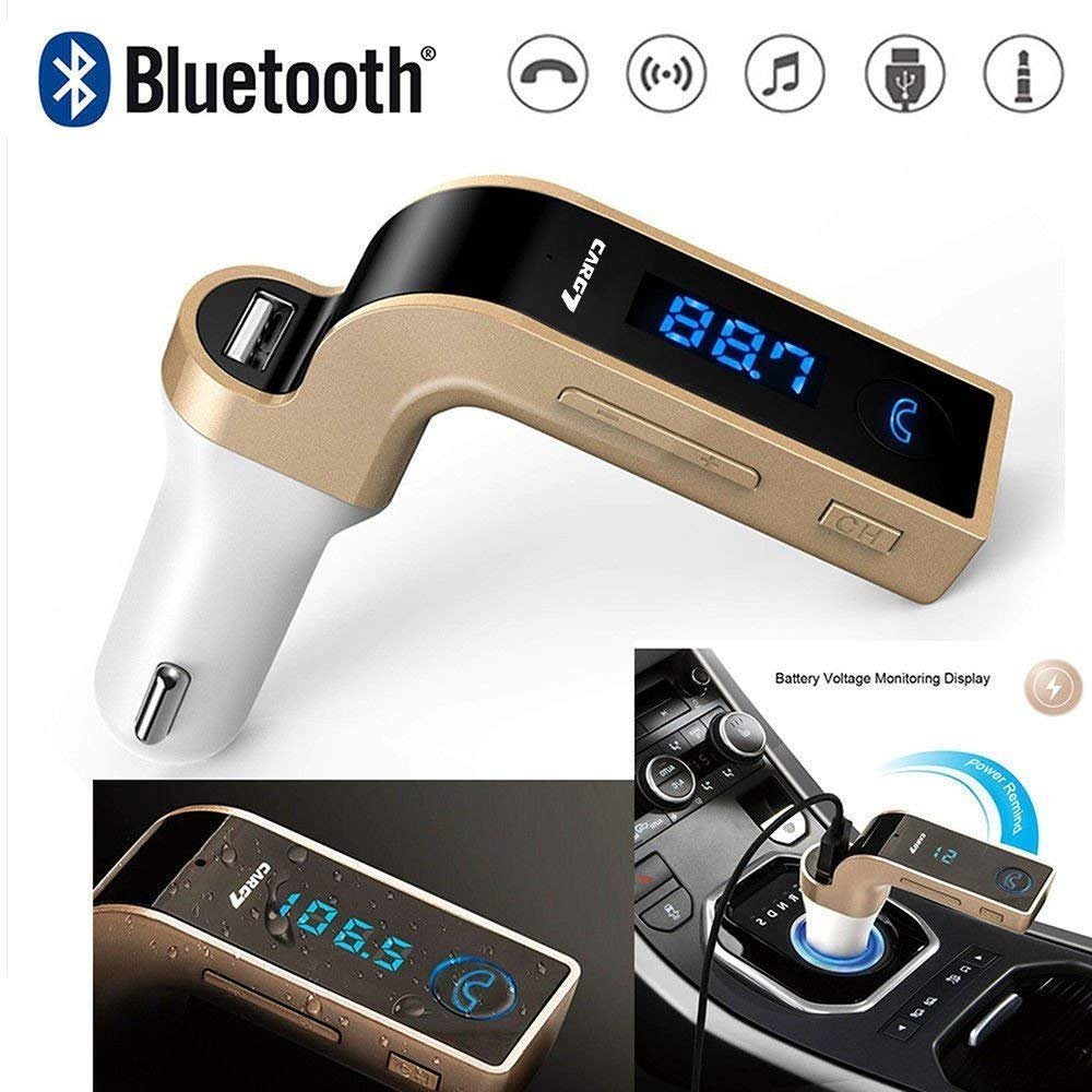 Goodway Advanced LCD Bluetooth Car Charger FM Kit MP3