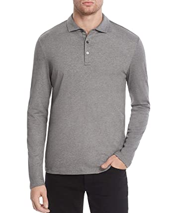 ec3bd53653d89 Image Unavailable. Image not available for. Color  Michael Kors Mens Sleek  Long Sleeve Polo Shirt ...