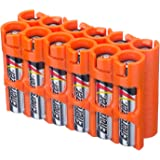 Storacell by Powerpax AAA Battery Caddy, Orange, Holds 12 Batteries