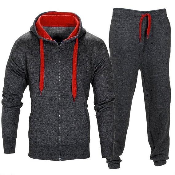 Pandapang Mens Sweatsuit Active Hoodie Jogger Pants Sportswear Tracksuit