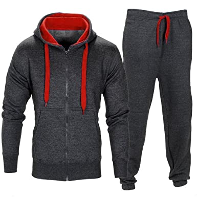 e2ab5ffa Tracksuit Set, Kimloog Men Full-Zip Hoodie Sweatshirt Pants Jogging Sports  Running Suit (