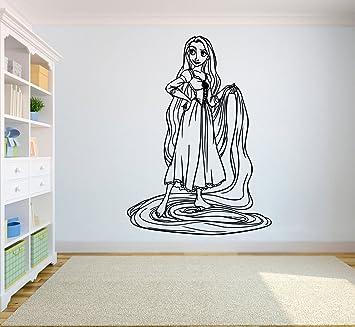 Amazon.com: Rapunzel – Adhesivo de Pared Dibujos Animados ...
