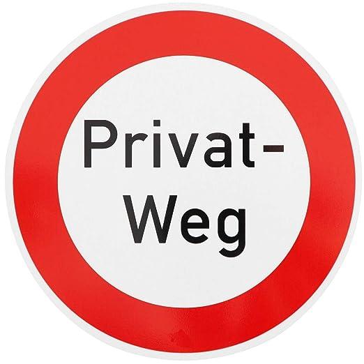 ORIGINAL señal 250 edición-text PRIVAT-WEG atención para ...