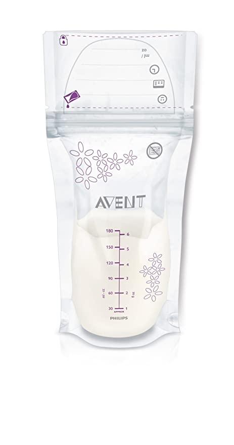 Philips AVENT Breast Milk Storage Bags, 6 Ounce, 25 Count