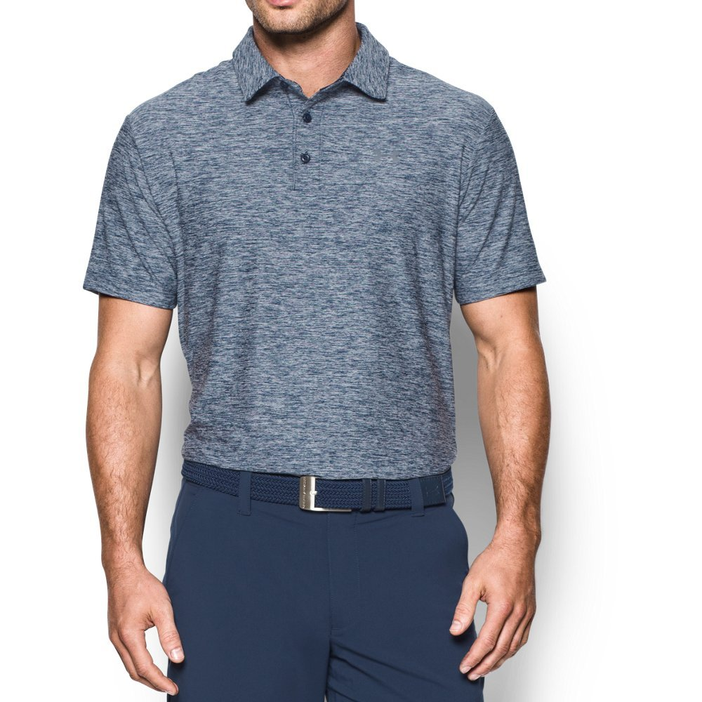 Under Armour Men's Playoff Polo, Academy (409)/Graphite Small