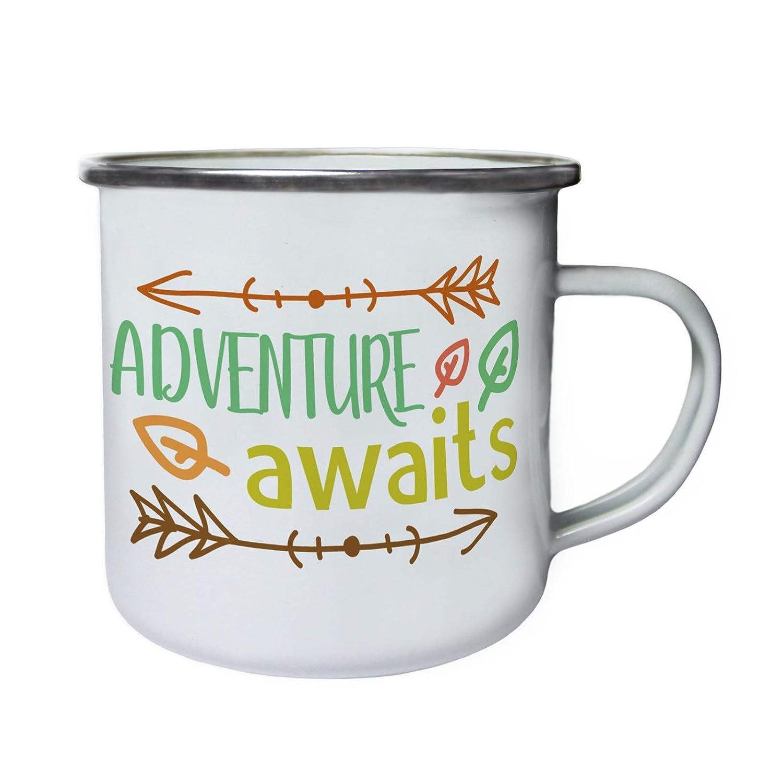 ふるさと納税 Adventure Adventure Awaitsレトロ、Tin、エナメル10ozマグj140e B0737XB5G7 B0737XB5G7, ツクバ市:a5d7792e --- movellplanejado.com.br