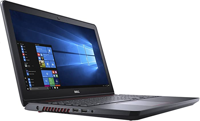 "Dell Inspiron 15 5000 5577 Gaming Laptop - 15.6"" Anti-Glare FHD (1920x1080), Intel Quad-Core i5-7300HQ, 1TB SSD, 16GB DDR4, NVIDIA GTX 1050 4GB, Red Backlit Keys, Windows 10"