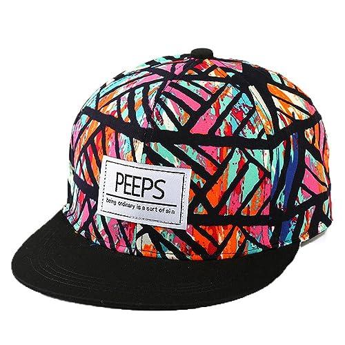 Unisex Moda Hiphop Estate Fiore Modello Colori Misti Regolabile Cappellini Da Baseball Cappello Da S...
