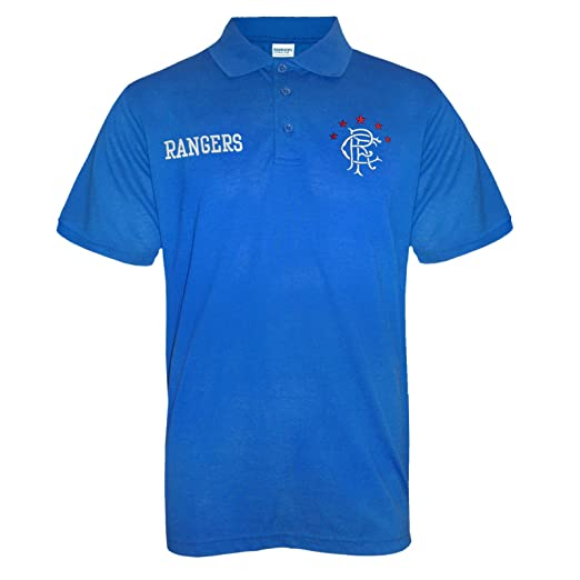 Amazon.com  Rangers Football Club Official Soccer Gift Mens Crest Polo Shirt   Clothing 6864ee49c