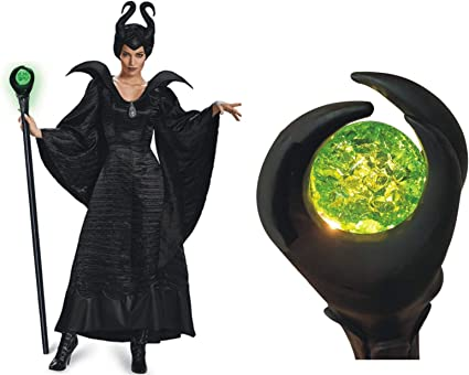 Maleficent Staff Scepter Green LED Light up Magical Scepter Wand Wizard 51inch Adustable Length