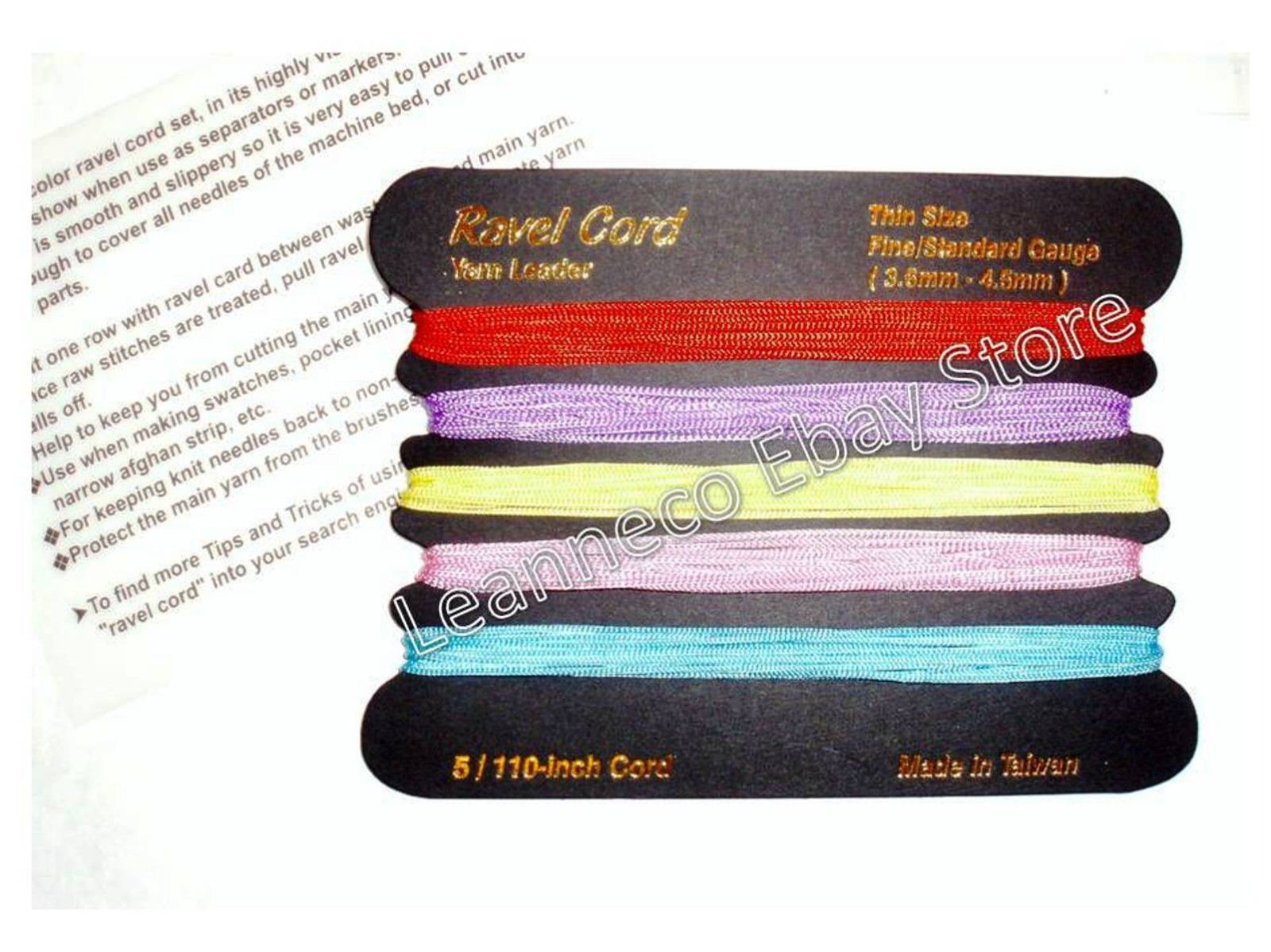 USA Premium Store 1 Ravel cord Set all fine/standard gauge machine Knitting Brother S/Reed Singer