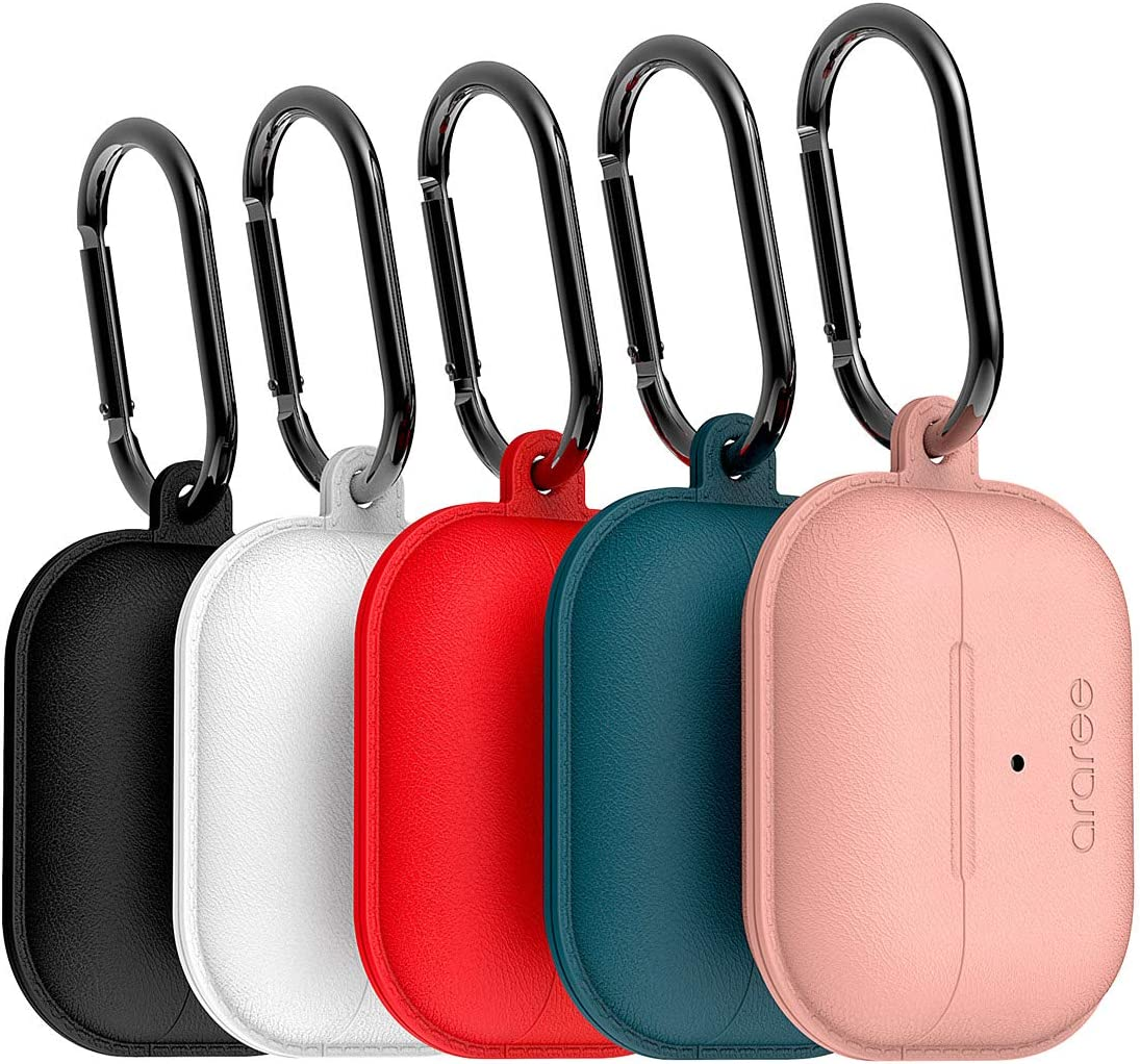 Flamingo araree POPS Leather Pattern Silicone case No Sticky Adhesive Tape Compatible with Apple AirPods Pro Unique Air Suction Part