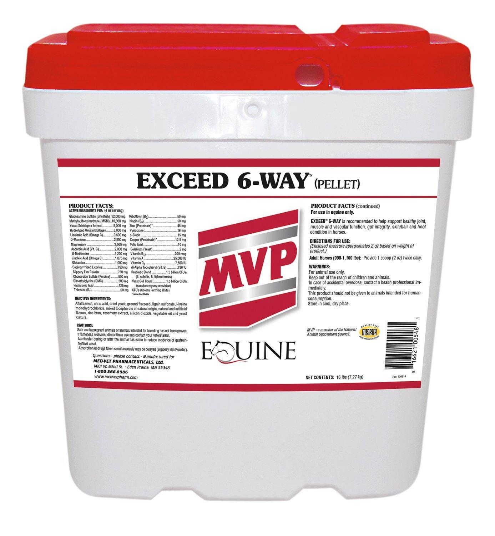 Med-Vet Exceed 6-Way Pellets 16lb by Med-Vet Pharmaceuticals