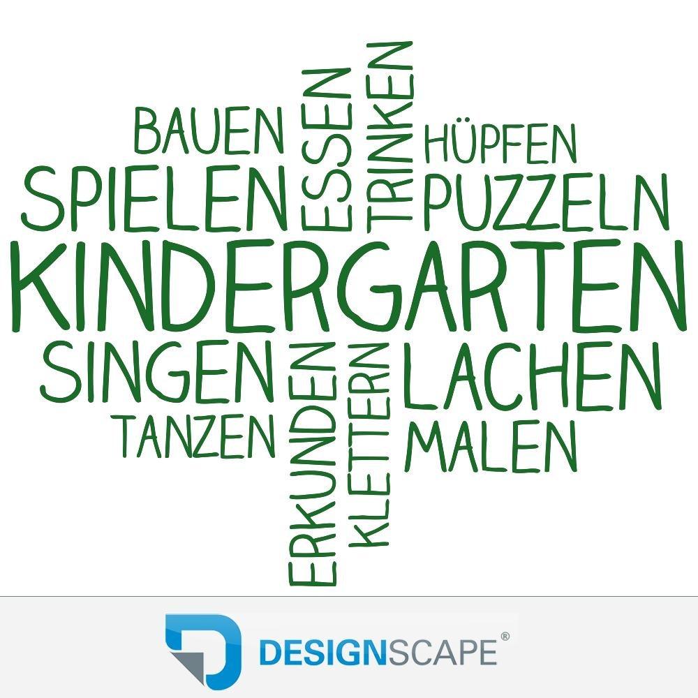 DESIGNSCAPE® Wandtattoo Wortwolke Kindergarten   Kindergarten Wanddekoration 110 x x x 89 cm (Breite x Höhe) sandgrau DW808180-M-F101 B075JGL897 Wandtattoos & Wandbilder 2911e2