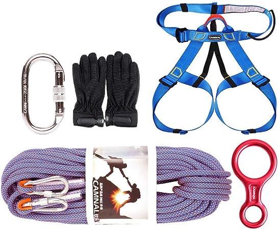 HANG Kit de Equipo de Escalada Cuerda Exterior Mosquetón ...