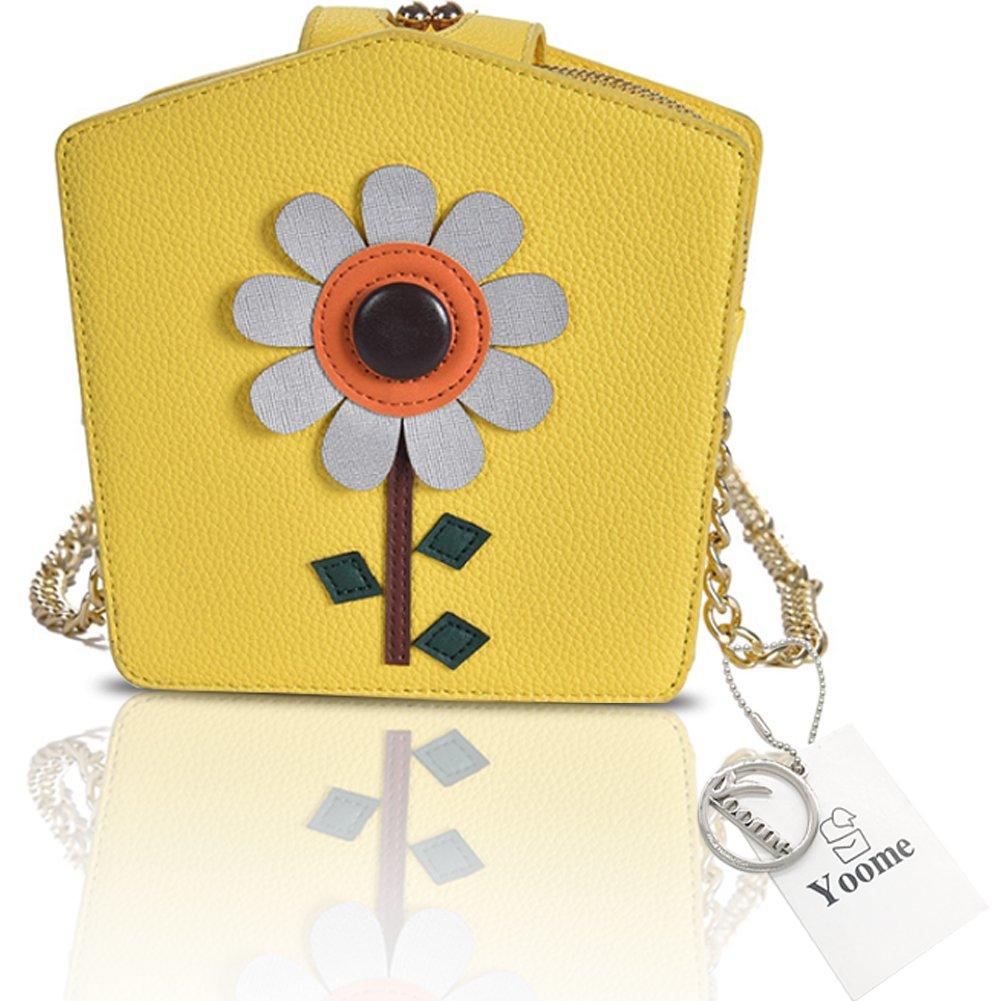 Yoome Cute Cartoon Sunflower Yellow Korean Bags For Teen Girls Tiny Bags For Women