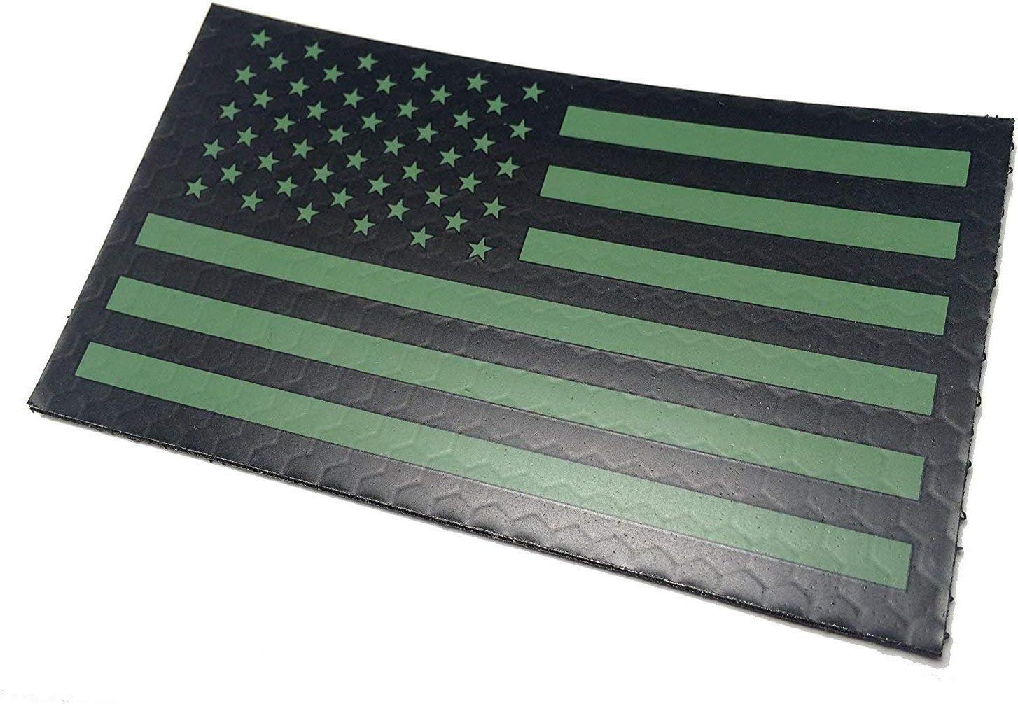 Parche de infrarrojos reflectante con bandera de Estados Unidos, estilo militar moral, color verde: Amazon.es: Juguetes y juegos