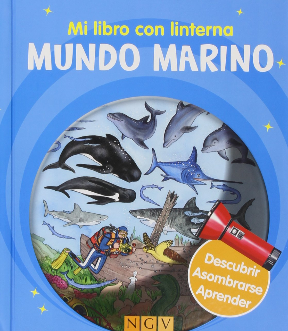 Mundo Marino. Mi Libro Con Linterna: Amazon.es: Vv.Aa.: Libros