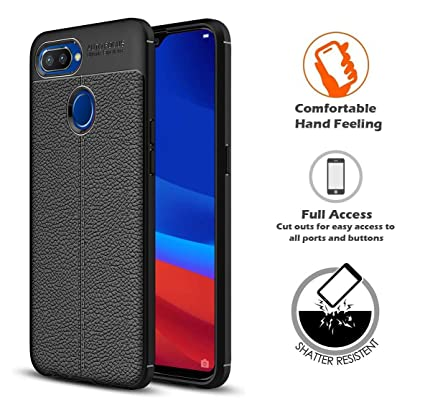 check out 9efbf 4b3c4 REALIKE Realme U1 Back Cover, Flexible Texture Pattern Carbon Fiber Back  Case for Realme U1 (Litchi Black)