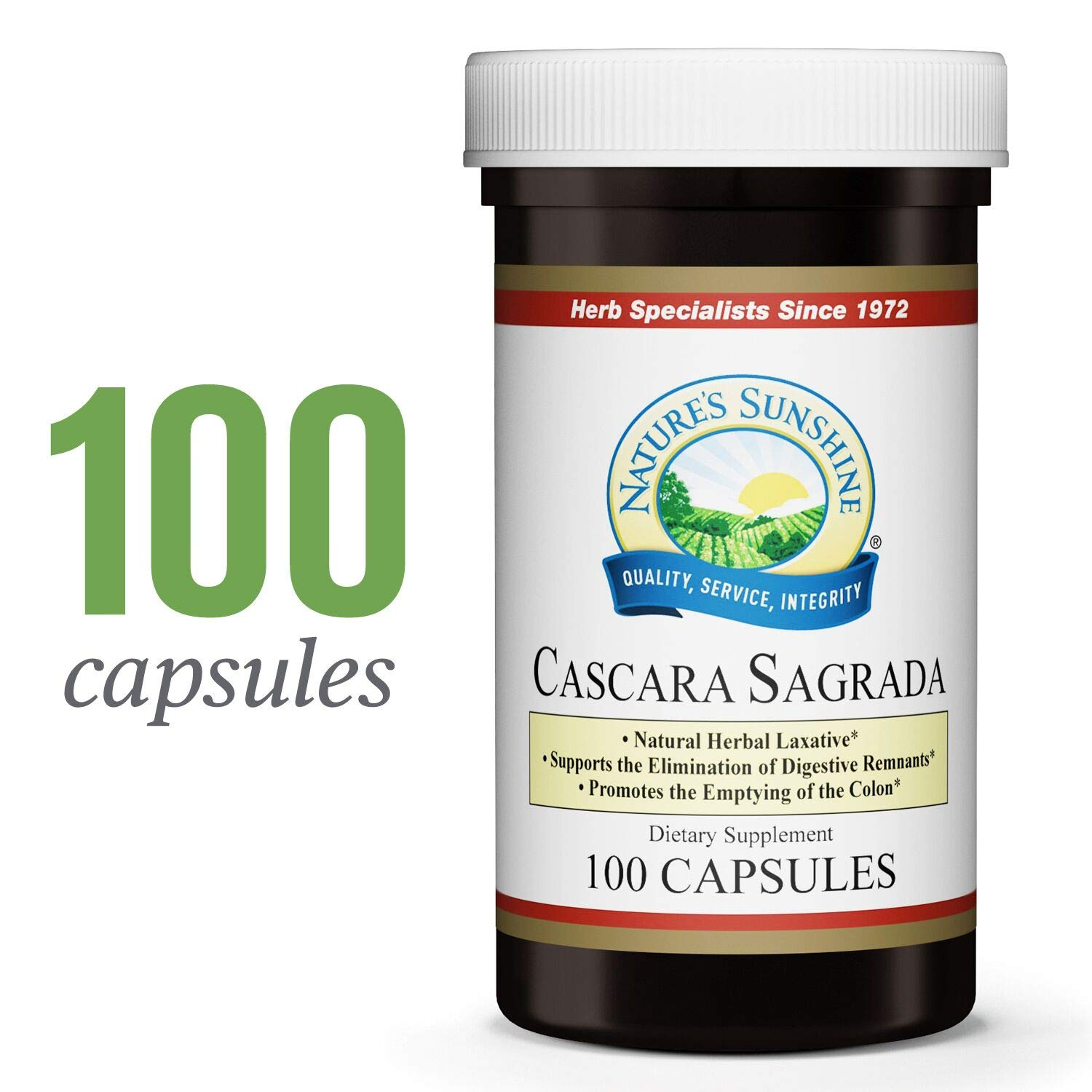 Nature's Sunshine Cascara Sagrada, 100 Capsules | Natural Laxative from Herbs Helps to Cleanse The Colon and Support Intestinal System Function by Nature's Sunshine