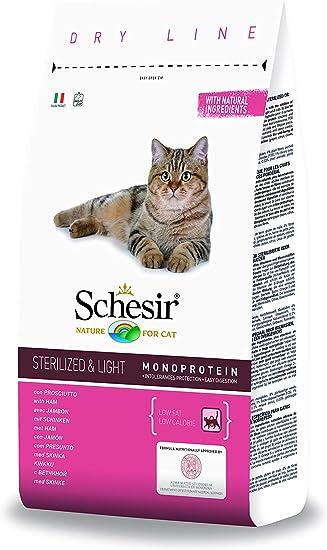 Schesir Comida Seca para Gatos Esterilizados con Jamón - 1500 gr: Amazon.es: Productos para mascotas