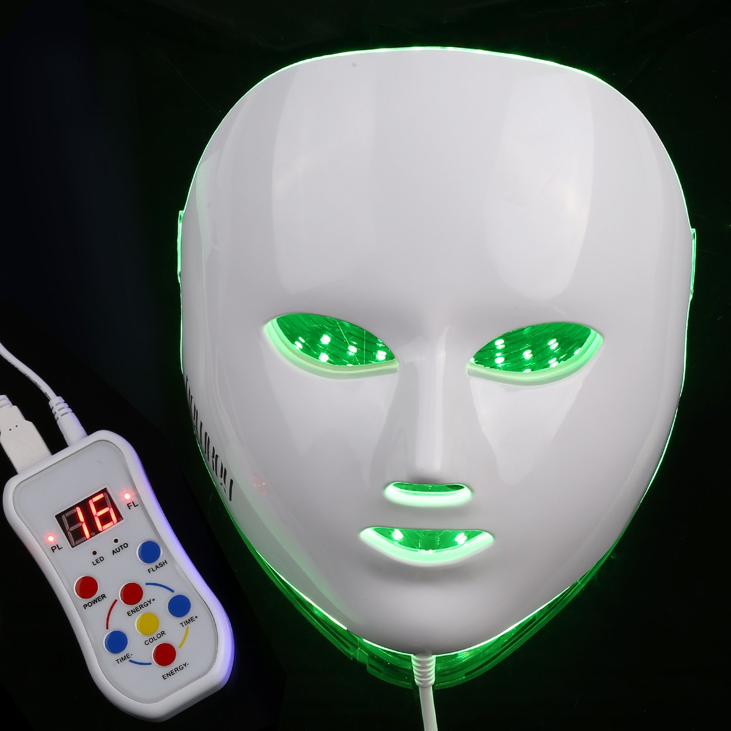 NEWKEY LED Photon Light Therapy Facial Mask Professional Anti Aging Skin Care Device for Face Whitening and Smooth - 1 YEAR WARRANTY by NEWKEY (Image #3)